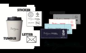 4店舗別クーポン券4000円分&オリジナルタンブラー&オリジナルステッカー&お礼の手書きお手紙メール