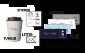 4店舗別クーポン券8000円分&オリジナルタンブラー&オリジナルステッカー&お礼の手書きお手紙メール