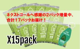 初出しゴーヤスムージー冷凍パック×15袋とオリジナルキーホルダー【ネクストゴール増量中】