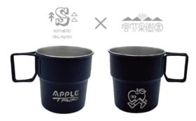 "somAbito ×宮下果樹園 限定ブラックチップカップ(Black Chip Cup ""APPLE TRIP""  )"