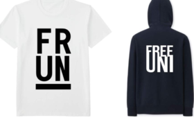 【クールなデザイン】FREE UNIVERSITY READY FOR 限定 T-シャツ&パーカーセット