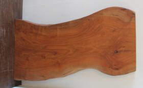 再生した一枚板のテレワーク用デスク / Lサイズプレミアム#31 ケヤキ材