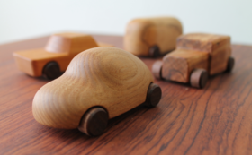 再生した一枚板rewoodの銘木から作られる「THIS IS VEHICLE」 by 小石製作所※樹種おまかせ
