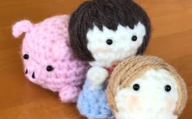 小さなお人形をもらって応援コース‼