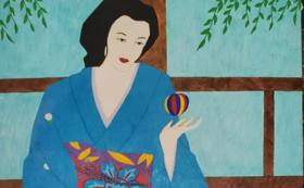 開運山に美智子先生絵画