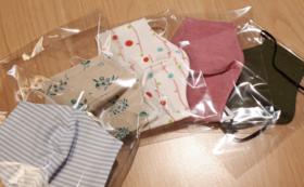 お礼の手紙とオリジナル布マスク2枚
