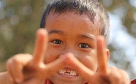 心癒されるカンボジアキッズの写真