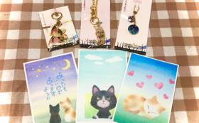 猫ポストカード/猫レジンアクセサリー1時間無料券