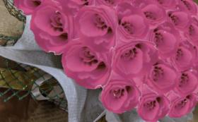 バラのプリザーブドフラワーケーキ/ストロベリー