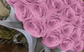 バラのプリザーブドフラワーケーキ/クリスタルピンク