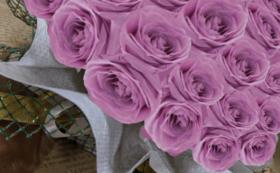 バラのプリザーブドフラワーケーキ/コスモスピンク