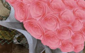 バラのプリザーブドフラワーケーキ/キャンディーピンク