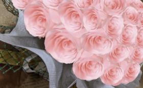 バラのプリザーブドフラワーケーキ/ブライダルピンク