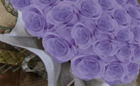 バラのプリザーブドフラワーケーキ/ラベンダー