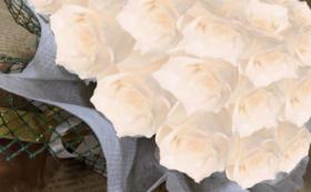 バラのプリザーブドフラワーケーキ/ホワイトシャンパン