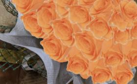 バラのプリザーブドフラワーケーキ/フルーティーオレンジ