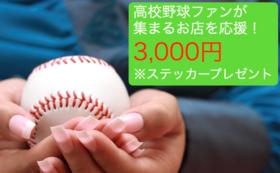 【地大会とお店を応援!3000円】