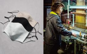 輪奈ビロードマスク1枚 X 職人によるオンラインファクトリーツアー