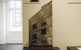 【同時代ギャラリー存続へ】1928ビルメインモニュメント看板の縮尺 約1/7のスケールモデル作品