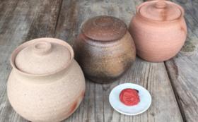 GUMBO CERAMICS寺園証太さん作備前蓋付小壺とこだわりの梅干し(3kg)コース