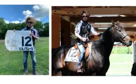 【限定1名様】元JRAトップジョッキーの藤田騎手のサイン入りゼッケン(ヒルノダムール・実用)