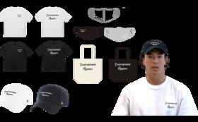 オリジナルグッズフルセット(キャップ、Tシャツ、マスク、トート)+お礼動画