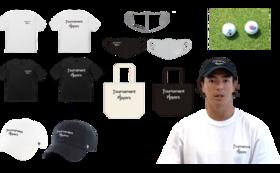 オリジナルグッズフルセット(キャップ、Tシャツ、マスク、トート)+賛同プロによるサイン入り使用ゴルフグッズ+お礼動画