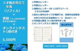 才能お見立て手帳(リフィル)+書籍「大人向け」+オンラインテスト