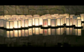 世界で活躍される書道家・洞田和園先生直筆の灯ろう(墨)2基※一般および企業の支援者のかた