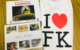 地雷の風刺画と写真の資料集&Tシャツ