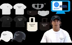 オリジナルグッズフルセット(キャップ、Tシャツ、マスク、トート)+選手とZOOMでトーク+お礼動画