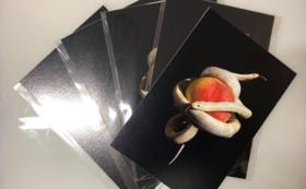 金サジ 手刷りポストカード(シリアルナンバーつき)