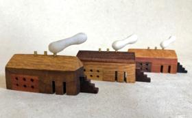 木工作家 花塚光弘さん ある街の小さな家たち(オブジェ) ①