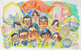 企業の皆さまを村岡ケンイチが描く