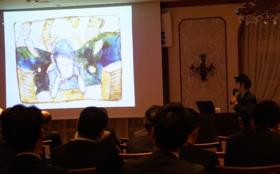 似顔絵セラピー・プロジェクト代表の村岡ケンイチ講演会