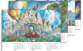 村岡ケンイチのやすらぎの絵シリーズカレンダー+お礼の手紙