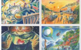 村岡ケンイチのやすらぎの絵シリーズポストカードセット+お礼の手紙