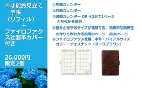 才能お見立て手帳(リフィル)+ファイロファクス社製革カバー付き