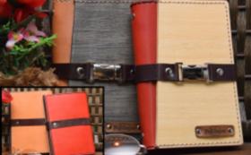 「木」と「革」のシステム手帳「バイブルサイズ」