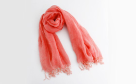 Hemp textile x naturally dyed scarf (1 piece)(red)