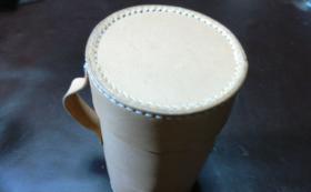 抗菌抗ウイルス対策用マスク革ボックス(スマホ対応)抗菌抗ウイルス加工生地・銅繊維素材シート使用・円筒形