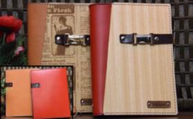 ③「木」と「革」のシステム手帳「A5サイズ」