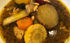 11000円 10品目野菜のチキンスープカレー 3食コース