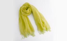大麻布×天然色素 スカーフ1枚(黄色)
