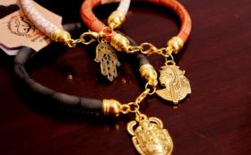「エジプトのお土産」チャームブレスレットまたはパピルス