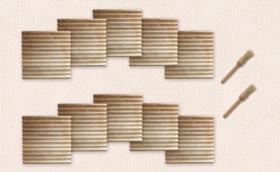 10枚セット割:【このんトーストプレート】10枚+ブラシ2本