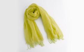 大麻布 × 天然色素 スカーフ1枚(黄色)