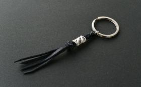 銀と革のキーホルダー