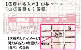 【区画に名入れ】山桜コース(山桜区画を1区画)