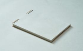 【10%OFF】②長田製紙所・雲肌(白)トリノコノート1冊(B6サイズ)